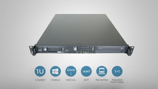 1U Rail-certified computer