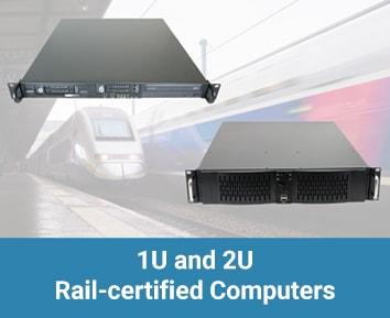1U Rail-certified computers